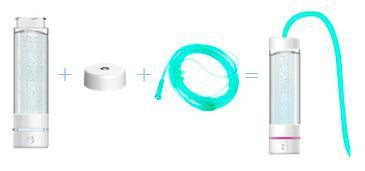 водородные ингаляции, дыхательный водород, насадка для ингаляций H2 Life, генератор водородной воды h2 life, портативный водородный генератор