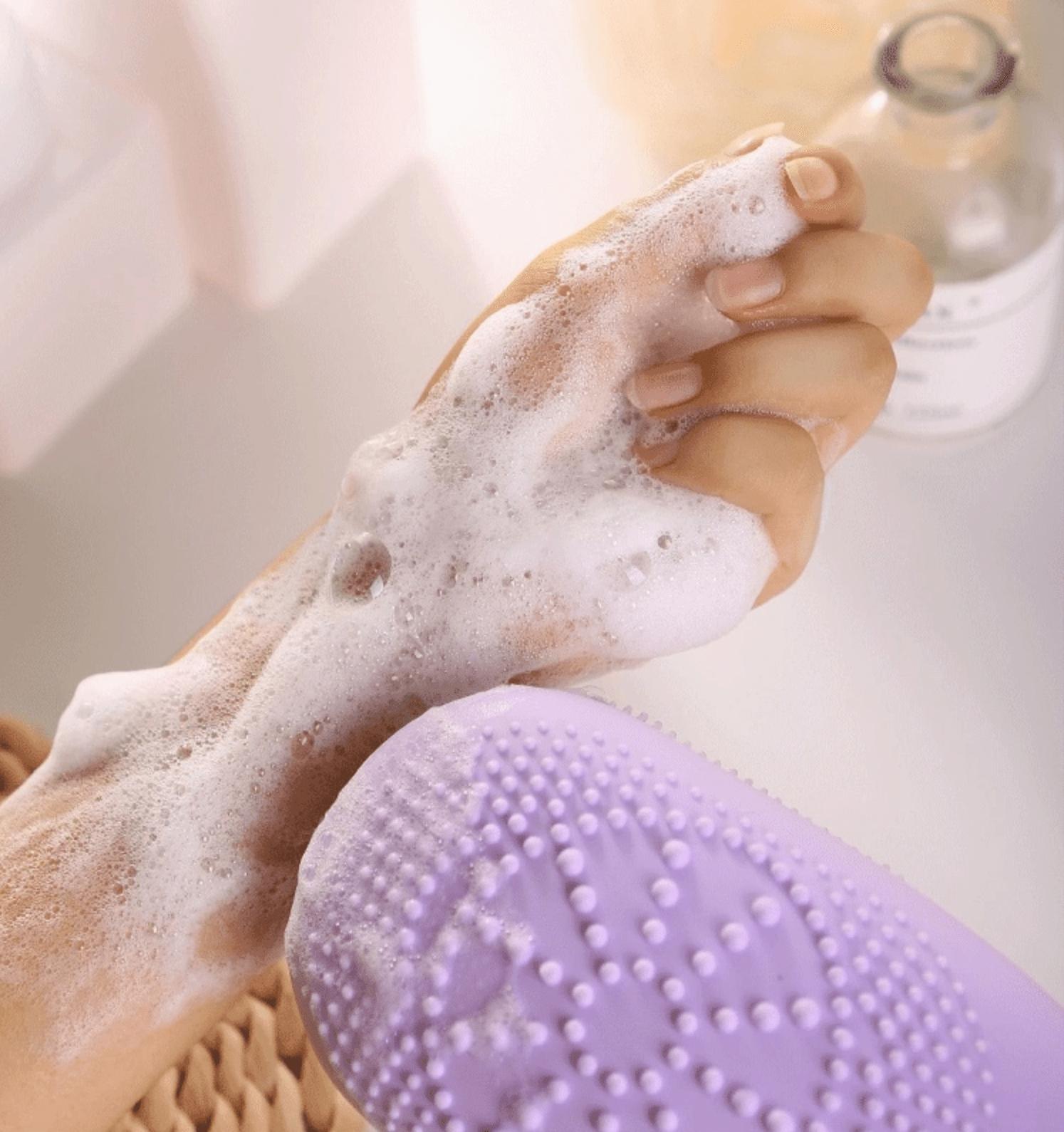 массажная щетка для тела, щетка для ванны, силиконовая щетка для тела, щетка для очистки кожы
