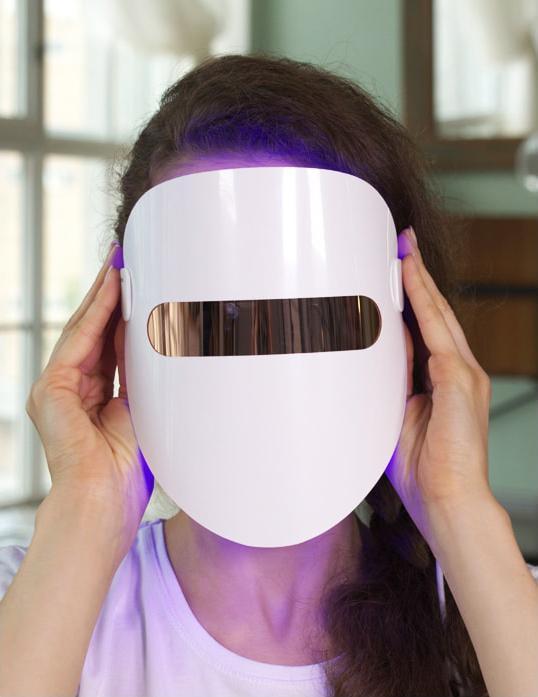 фотодинамическая маска для лица, LED-маска
